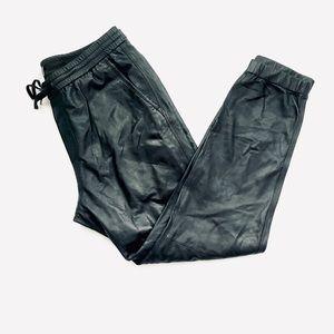 Vince Lamb Leather Jogger Size L